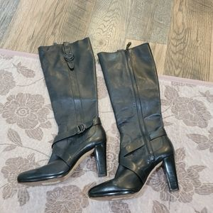 Cole Haan Nike Air Courtney Black Leather Boots